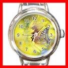 Sun Flower Butterfly Fly Round Italian Charm Wrist Watch 570