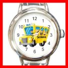 Back SCHOOL BUS DRIVER Round Italian Charm Wrist Watch 579