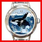 Emerging Killer Whale Marine Round Italian Charm Wrist Watch 581