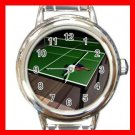 TABLE TENNIS SPORTS Round Italian Charm Wrist Watch 582