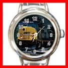 CSX SD-70 DIESEL ENGINE TRAIN Round Italian Charm Wrist Watch 588