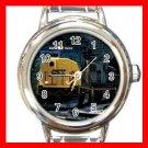 CSX SD-70 DIESEL ENGINE TRAIN Round Italian Charm Wrist Watch 588