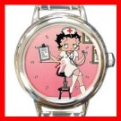 Nurse Betty Boop Hospital Round Italian Charm Wrist Watch 597