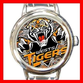 Wests Tigers Football Sports Round Italian Charm Wrist Watch 601