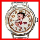 BETTY BOOP On Time Round Italian Charm Wrist Watch 606