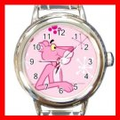 Pink Panther Tiger Round Italian Charm Wrist Watch 611