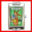 Yogi Bear Kids Rectangle Italian Charm Wrist Watch 001