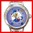 Donald Duck Kids Round Italian Charm Wrist Watch 616