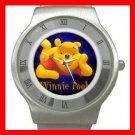 Cute Bear Winnie Pooh Stainless Steel Wrist Watch Unisex 186
