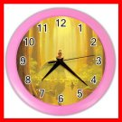 Princess And The Frog Kiss Kids Wall/Decor Clock-Pink 010