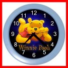 Cute Bear Winnie Pooh Kids Wall/Decor Clock-BabyBlue 011