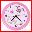 SUGAR PLUM NURSERY GIRLS Wall Clock-Pink 014