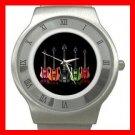 Colorful Neon Guitars Music Fun Stainless Steel Wrist Watch Unisex 184