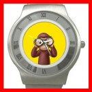 Curious George Monkey Kids Stainless Steel Wrist Watch Unisex 187
