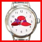 RED HAT SOCIETY LADIES Fun Italian Charm Wrist Watch 619