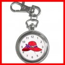 RED HAT SOCIETY LADIES Fun Silvertone Key Chain Watch 002