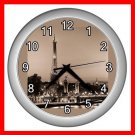 EIFFEL TOWER Paris France Wall Clock-Silver 017