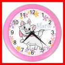 Aristocats Marie Cat Kids Decor Wall Clock-Pink 024