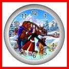 Beauty and Beast Dance Winter Kids Decor Wall Clock-Silver 025