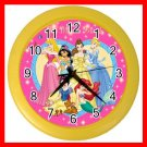Pricess Friends Kids Decor Wall Clock-Yellow 026