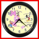 Mickey Mouse Friends MOM Mother's Day Kids Decor Wall Clock-Black 028