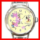 Mickey Mouse Friends MOM Mother's Day Italian Charm Wrist Watch 629