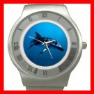 Dusky Dolphin Underwater Sea Stainless Steel Wrist Watch Unisex 190