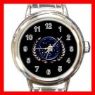 STAR TREK FEDERATION OF PLANETS LOGO Italian Charm Wrist Watch 632
