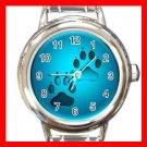 Dog Paw Pet Animals Italian Charm Wrist Watch 635