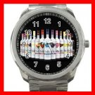Three Olives VODKA WINE Silvertone Sports Metal Watch 008
