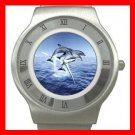 DOLPHINS LEAPING SEA Stainless Steel Wrist Watch Unisex 193