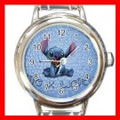 Cute Stitch Disney Kids Round Italian Charm Wrist Watch 637