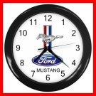 FORD MUSTANG Collectable Decor Wall Clock-Black 035