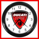 DUCATI Motorcycles Collectable Decor Wall Clock-Black 036