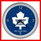 Toronto Maple Leafs Collectable Decor Wall Clock-Silver 043