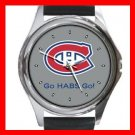 Hockey Montreal Canadians Canadiens HABS NHL Round Metal Wrist Watch Unisex 183
