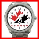 Hockey TEAM CANADA NHL Silvertone Sports Metal Watch 012