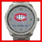 Hockey Montreal Canadians Canadiens HABS NHL Silvertone Sports Metal Watch 014