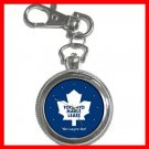 Toronto MAPLE LEAFS Silvertone Key Chain Watch 010