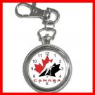 Hockey TEAM CANADA NHL Silvertone Key Chain Watch 011