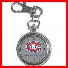 Hockey Montreal Canadians Canadiens HABS NHL Silvertone Key Chain Watch 012