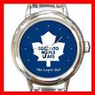 Toronto Maple Leafs Round Italian Charm Wrist Watch 639