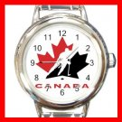 Hockey TEAM CANADA NHL Round Italian Charm Wrist Watch 640