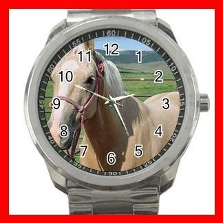 Palomino Quarter Horse Animals Silvertone Sports Metal Watch 018