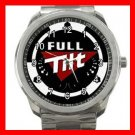 Full Tilt Poker Game Fun Silvertone Sports Metal Watch 020