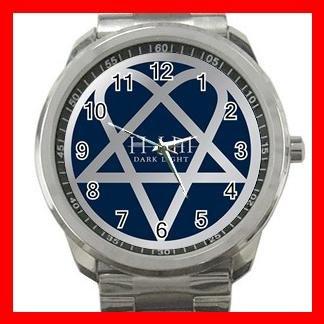 Blue Heartagram Hobby Silvertone Sports Metal Watch 021