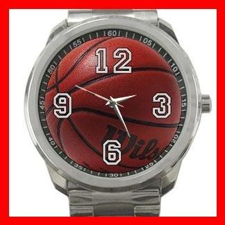 Basketball Game Ball Silvertone Sports Metal Watch 026