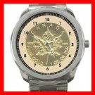 Maple Leaf Coin Canada Silvertone Sports Metal Watch 028