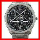Wicca Wicca PentagramSilvertone Silvertone Sports Metal Watch 037
