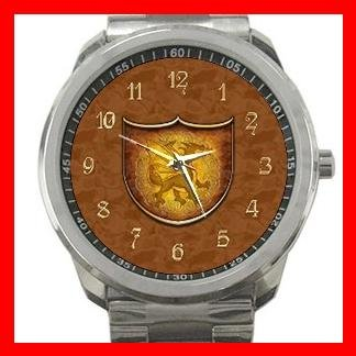 Copper Dragon Shield Silvertone Sports Metal Watch 054